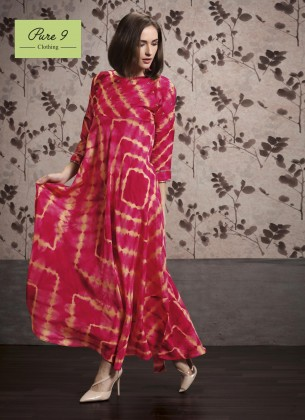 Pink Viscose Gown