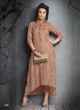 Brown Designer Kurti