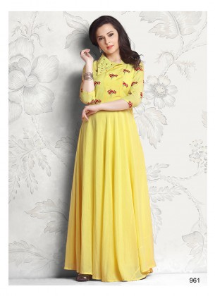 Yellow Designer Gown