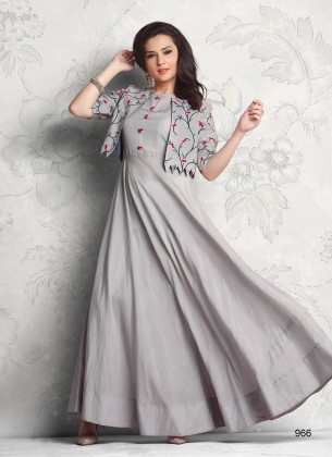 Gray Designer Gown