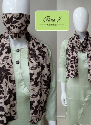 Designer Cotton Scarf Mask